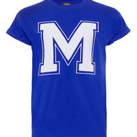 Blue Letter M Hi Roll T-Shirt - View All  - New In