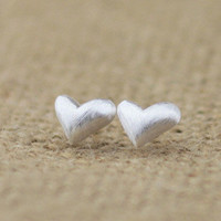 accessoryinlove — Silver Heart Earrings
