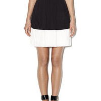 Colorblock Crystal Pleat Skirt - DRESSES & SKIRTS - Clothing - Vince Camuto - Free Shipping