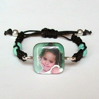Custom Photo Macrame Bracelet