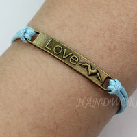 Bronze bracelet heart wings of love bracelet adjustable bracelet personality fashion bracelets 2013-N1081
