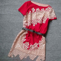 Cute hollow out lace fashion dress from Girlsfriend