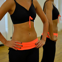 Ballet top in black-orange for Bikram yoga