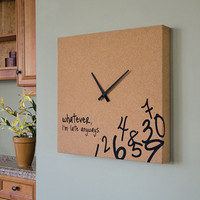 Cork Clock with Black Hands