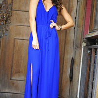 Deep Blue Sea Maxi Dress: Royal | Hope&#x27;s