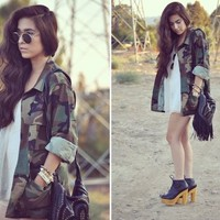 Camo Army Jacket from ShopWunderlust