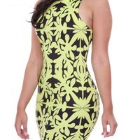 PRINTED DRESS - LIME  Tanny&#x27;s Couture LLC
