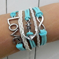simple preparation of bracelet  infinite   leather bracelet letter love bracelet bracelet for girls