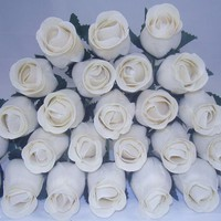 50 WOODEN ROSES CREAM / OFF WHITE IN COLOUR (NO:27) | eBay