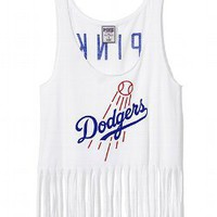Los Angeles Dodgers Fringe Racerback Tank - PINK - Victoria's Secret