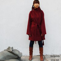One Fine Day - cashmere poncho coat (P1004)