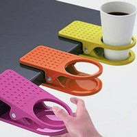 New Home Office Drink Cup Coffee Holder Clip Desk Table By Buyinconis