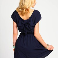Bow Scoopback Dress