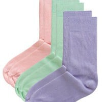 American Apparel - (3-Pack) Lightweight Cotton Blend Calf-High Sock