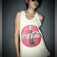Coca Cola Coke Vintage Tank Top Shirt T-Shirt Women &amp; Men Unisex Size S , M , L , XL