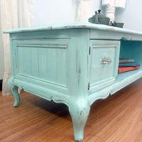 Shabby Chic Aqua Coffee Table