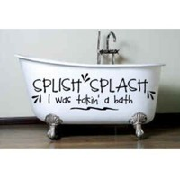 Splishing and a splashing by aluckyhorseshoe on Etsy