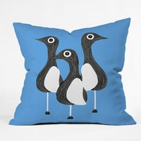 DENY Designs Home Accessories | S Eifrid The Birds Blue Throw Pillow