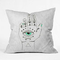 DENY Designs Home Accessories | Wesley Bird Eye See Hamsa Throw Pillow
