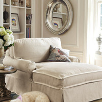 Chaise And A Half I - Chaises, Furniture, Home Decor  | Soft Surroundings