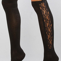 The Lace Panel Knee High : *Accessories Boutique : Karmaloop.com - Global Concrete Culture