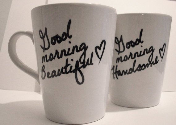 Latte mug couple set of 2 Personalized mug by theprintedsurface