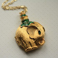 The Vintage Elephant Locket by FreshyFig on Etsy