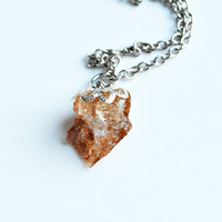 EARTHY - Quartz Crystal Necklace // Brown Natural Metaphysical Spiritual Healing Properties