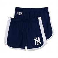 New York Yankees Mesh Campus Short - PINK - Victoria's Secret