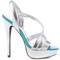 Bebe Shoes - Filamena - Silver Metallic