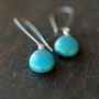 Sedona Drop Earrings Turquoise Howlite Silver Southwestern Dangle Gemstone Handmade Jewelry