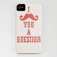 I mustache you a question iPhone Case by INDUR | Society6