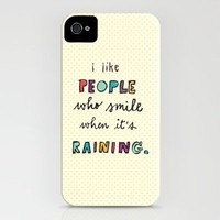 when it&#x27;s raining iPhone Case by Riga Sutakul | Society6