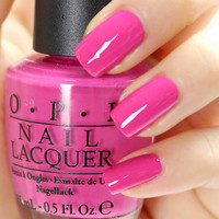 OPI Nail Polish (H59-Kiss Me On My Tulips) *HOT PINK* Holland Collection