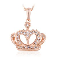 Crown Necklace with Swarovski Elements