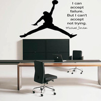 Michael Jordan Inspirational Wall Sticker Bedroom Decal Vinyl Transfer Mural