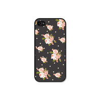Peach Floral iPhone 5 Case  iPhone 5 Cover  Grey by fieldtrip