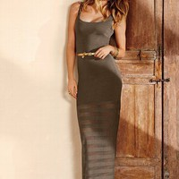 Sheer-bottom Maxi Dress