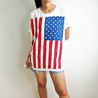 US American USA National Flag Shirt Fourth of July Shirts Stars and Stripes Men Women T-Shirts TSize M