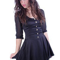 Barbara Flared Dress | Motel | Trendy Dresses | Little Black Dress | MessesofDresses.com