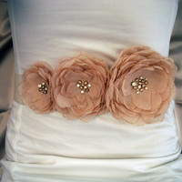 Bridal Belt  Sash Belt for Wedding Dress  by kpersonboutique