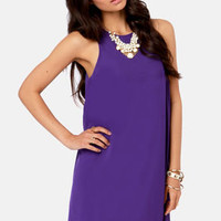 Chiff-On the Run Purple Dress