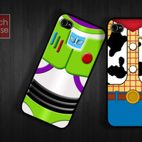 woody buzz lightyear Case iPhone 4 Case iPhone 4s Case iPhone 5 Case idea case twin friend team movie parody toy story like love bestfriend