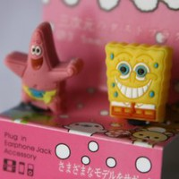 Amazon.com: Spongebob + Patrick Star Earphone Jack Accessory Dust Plug Stopper Ear Jack 3.5mm for iPhone 4G 4S 5 / iPad / ipod touch: Cell Phones & Accessories