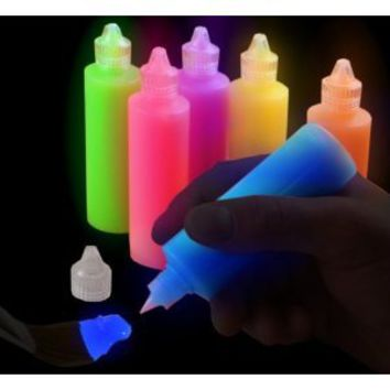Super Glow in the Dark Paint Tubes (6 Pack): Everything Else