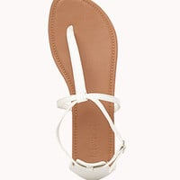 Faux Leather Thong Sandals | FOREVER 21 - 2034761867
