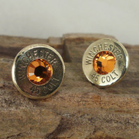 Bullet Earrings Stud Earrings Ultra Thin Colt by ShellsNStuff