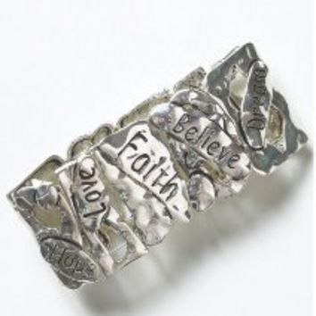"""Joe Browns"" Joe Browns Faith Hope Love Cuff at Simply Be"