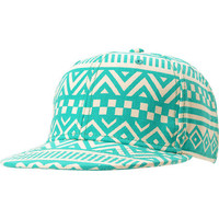 Neff Inca Green &amp; White Tribal Print Snapback Hat