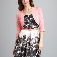 ideeli | JESSICA HOWARD Abstract Floral Print Dress with Shrug
